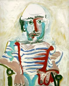 Pablo Picasso - Seated Man (Self-Portrait), 1965. Oil on canvas
