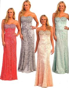 Prom Dresses Evening Dresses under $200<BR>8872<BR>Mermaid  gown sweetheart beaded bodice, with floral lace overlay.