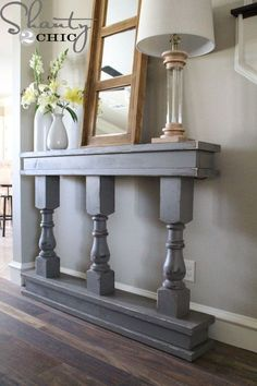 DIY Console Table for hall or room.