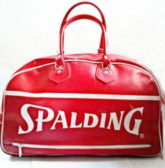 c82e40aa5355 Items similar to Vintage Spalding Sports Gym Bag on Etsy