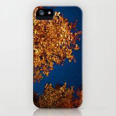 Golden Tree at Night iPhone & iPod Case by Jody Edwards Art - $35.00