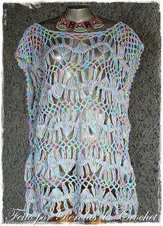 * Pérolas do Crochet: Blusa em croche de grampo