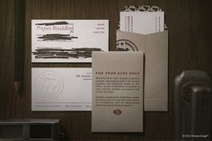 Project BlackBird Collateral: Business Cards