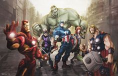 The Avengers by TedKimArt on DeviantArt