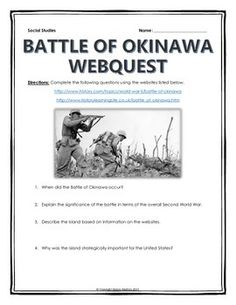 World War II - Battle of Okinawa - Webquest with Key