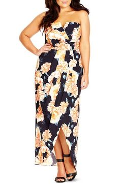 641bf4340ad21 City Chic Tulip Time Floral Print Maxi Dress (Plus Size) available at   Nordstrom