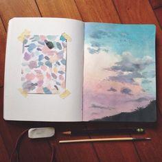 """journalstudymore: """" Upcoming theme: Art Journals, Study, and More """" journalstudymore: """"Próximo tema: Revistas de arte, estudos e muito mais"""" Kunstjournal Inspiration, Sketchbook Inspiration, Painting Inspiration, Art Inspo, Sketchbook Ideas, Creative Inspiration, Sketchbook Tumblr, Tumblr Art Drawings, Art Et Design"""