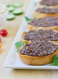 Super fast and easy, Olive Tapenade is a flavorful Mediterranean spread ideal for an appetizer or on a sandwich.