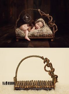 Branch Bed - Newborn Photography Prop - Real Wood - NEW, $60.00 by TFJ Designs