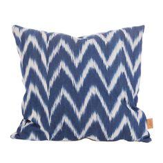 ZigZag+Tyynynpäällinen+50x50cm,+Sininen/Valkoinen,+Lidby+Living