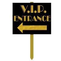 VIP Entrance Yard Sign