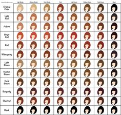 Henna Hair Dye Color Chart