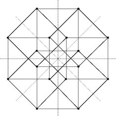 while the 16 with half-integer coordinates form the vertices of a hypercube (the 4d analogue of a cube):