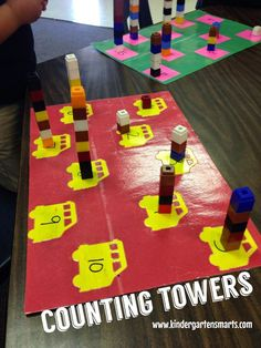 Hands-on Math centers for the beginning of the year -- going to make a few of these for my first graders with no number sense
