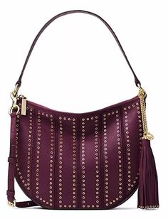 bd83b466f69 Read moreabout the condition Brand  Michael KorsMaterial  Leather Style   HoboColor  Plum UPC  190049676080