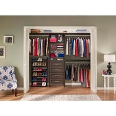 ClosetMaid Impressions 28.7 In. X 28.7 In. X 41.1 In. Chocolate Wood Corner  Unit | Pinterest | Master Closet, Closet Layout And Modular Shelving