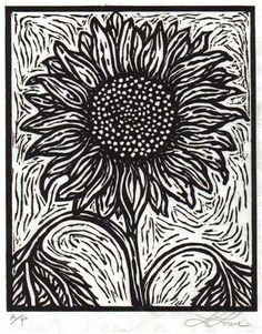 block print sunflower