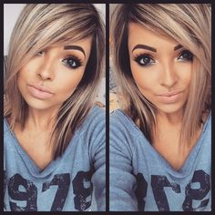 Hair style n make up Hair Color And Cut, Haircut And Color, Cut My Hair, Love Hair, Pelo Color Plata, Medium Hair Styles, Short Hair Styles, Hair 2018, Hair Highlights