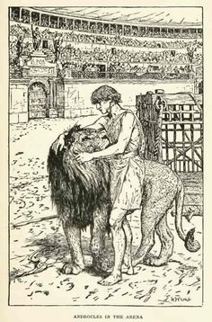 The Story of Androcles and the Lion - The Animal Story Book by Andrew Lang, 1914
