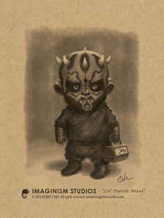 Lil Darth Maul's off to his first day of school