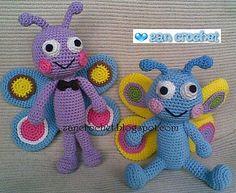 Amigurumi Butterfly FREE Crochet Pattern
