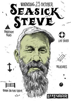 Spielerei concept & design is a graphic design studio which develops visual identities for analog and digital media. Concert Flyer, Concert Posters, Event Posters, Seasick Steve, Rock Posters, Band Posters, Music Posters, Poster Design, Graphic Design