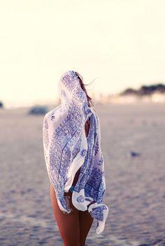 bundled up // #beachbum #planetblue