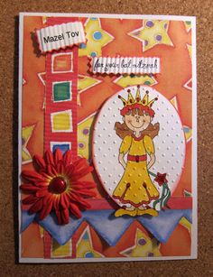 Handmade Bat Mitzvah Card by Beadlady5CardDesigns on Etsy, $5.00