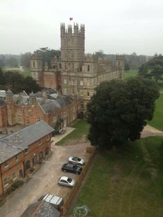 downton abbey's highclere castle from the backside