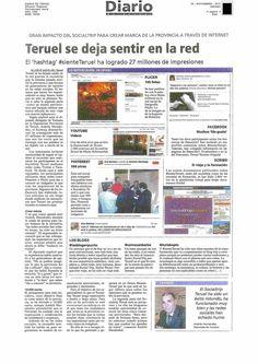 Reportaje final Social Trip Teruel en el Diario de Teruel, 24 de noviembre.