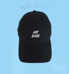 ART BABE Dad Hat Embroidered Baseball Cap Low by IMPURETHOUGHTS