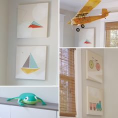 Modern Boy's Room with Transportation Theme