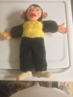 Vintage Rubber Face Monkey Stuffed Plush Animal Doll Banana Zip Zippy Mr. Bim. I always wanted one of these!!!