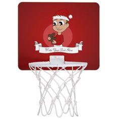 Christmas boy cartoon mini basketball hoop