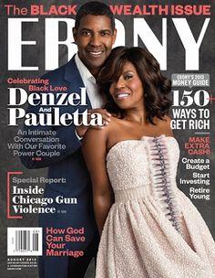 Loves It! Denzel And Pauletta Washington Celebrate Black Love On The Cover Of Ebony