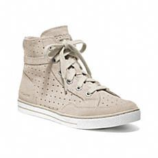 The Pita Perforated Hi Top, a featured style in the Spring 2013 Lookbook. See all our latest looks at www.coach.com.
