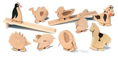 Home / Walking Wooden Animal Toy - Duck - Slopewalkers