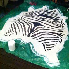 hunted interior: Painted Zebra Rug