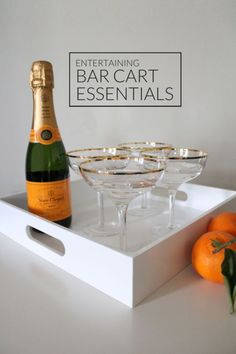 Fab decor and fun food and appetizers are party essentials, but it's the fancy cocktails that take holiday parties from ho-hum to memorable! If you are hosting a little get together or a big blowout bash, set yourself up for success with everything you need to serve up the chicest cocktails and take your shindig to the next level! Read on as eBay shares the essentials you need in your bar cart the next time you entertain!