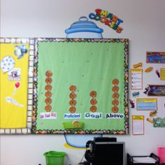 My Data wall with student's numbers on each cookie.