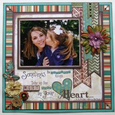 Q&A with Tombow Brand Ambassador Tracy McLennon // adorable scrapbook layout