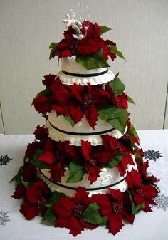 Image detail for -Christmas Themed Wedding Cake.