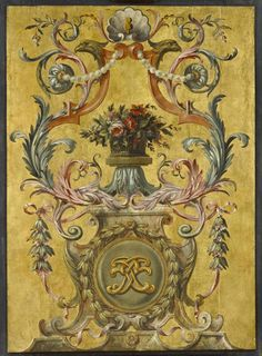 One painted panel | Painted and gilded oak | Paris, France, about 1661 | J. Paul Getty Museum
