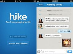 Hike Messenger im App Store erschienen Social Networking Apps, Social Networks, Best Android, Android Apps, Free Android, Messenger Pc, Nokia Asha 305, App Store, Ipod Touch