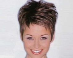 Short, spiky hairstyles are very popular with women because they can suit so many styles! An edgy, punky style goes brilliantly with short spiky hair, but it. Photos Of Short Haircuts, Short Pixie Haircuts, Cute Hairstyles For Short Hair, Vintage Hairstyles, Summer Hairstyles, Thin Hairstyles, Choppy Haircuts, 2018 Haircuts, Celebrity Hairstyles