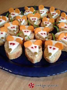 Αλμυρά+ποντικάκια+για+πάρτυ+#sintagespareas Cute Snacks, Snacks Für Party, Cute Food, Good Food, Creative Snacks, Creative Food Art, Charcuterie Recipes, Food Art For Kids, Food Carving