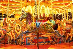 Breathtaking carousel. So much color and lights!
