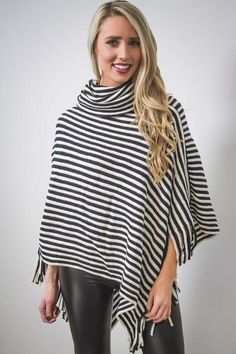 Striped Poncho-[product_description]-[product_tag]-Stella B. Clothing