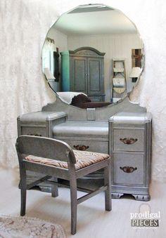 DIY Zinc Faux Finish Tutorial by Prodigal Pieces www.prodigalpieces.com #prodigalpieces
