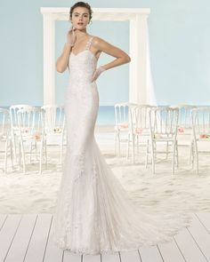XOEL vestido de novia Aire Barcelona Beach Wedding 2017